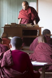 Class in a monk monastery
