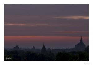 Sunrise over Bagan's plain