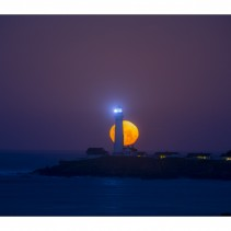 Full Moon over Pigeon Lighthouse